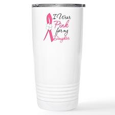 I Wear Pink Daughter Ceramic Travel Mug