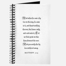 MATTHEW 21:19 Journal