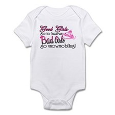 Good Girls - Bad Girls Snowmobile Infant Bodysuit