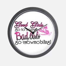 Good Girls - Bad Girls Snowmobile Wall Clock