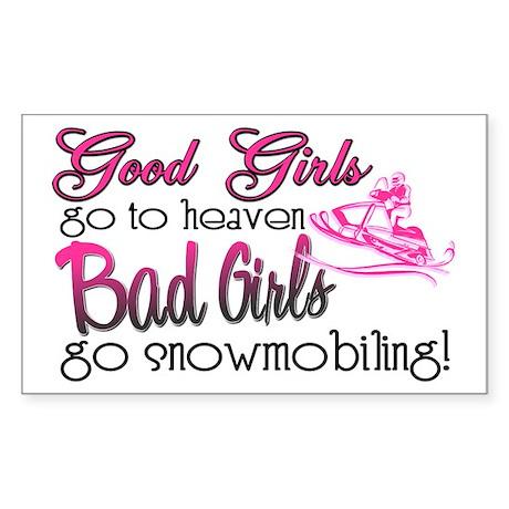 Good Girls - Bad Girls Snowmobile Sticker (Rectang