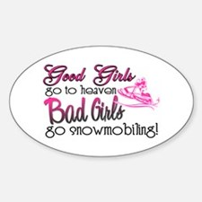 Good Girls - Bad Girls Snowmobile Oval Decal