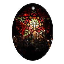 Shining Star Oval Ornament
