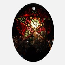 Shining Star Oval Ornament