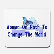 Woman On Path Mousepad