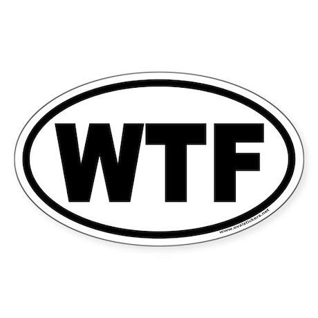 WTF Euro Oval Sticker