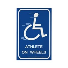 'Athlete on Wheels' Rectangle Magnet