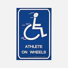 'Athlete on Wheels' Rectangle Magnet