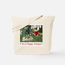 Happy Camper Pug Tote Bag