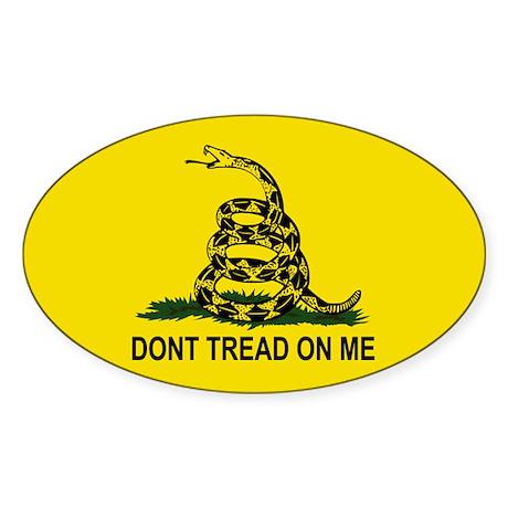 Gadsden Flag Oval Sticker (10 pk)