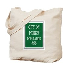 Twilight Forks Sign Tote Bag