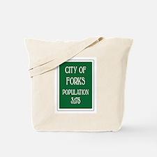 Twilight Forks Sign Tote Bag