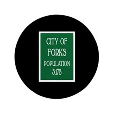 """Twilight Forks Sign 3.5"""" Button"""