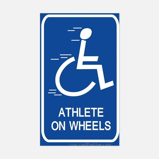 'Athlete on Wheels' Rectangle Decal