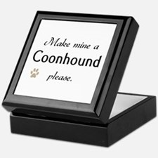 Make Mine Coonhound Keepsake Box