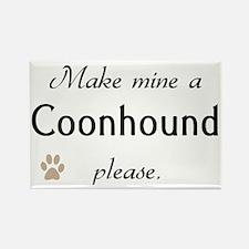 Make Mine Coonhound Rectangle Magnet (10 pack)