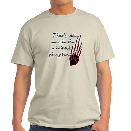 Twilight Irritated Grizzly Bear Light T-Shirt