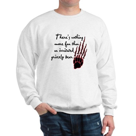Twilight Irritated Grizzly Bear Sweatshirt