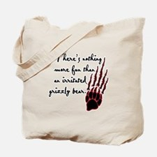 Twilight Irritated Grizzly Bear Tote Bag