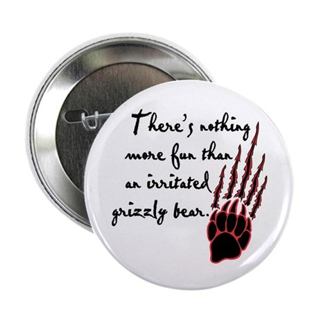 """Twilight Irritated Grizzly Bear 2.25"""" Button"""
