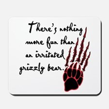 Twilight Irritated Grizzly Bear Mousepad