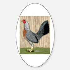 Grey Game Hen Oval Decal