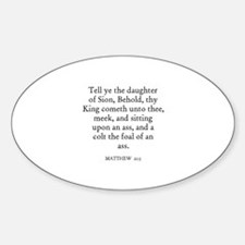 MATTHEW 21:5 Oval Decal