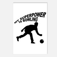 My Superpower is Bowling Postcards (Package of 8)