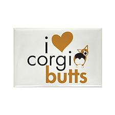 I Heart Corgi Butts - RHT Rectangle Magnet