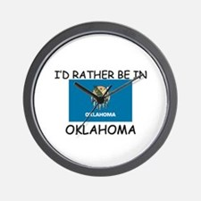 I'd rather be in Oklahoma Wall Clock