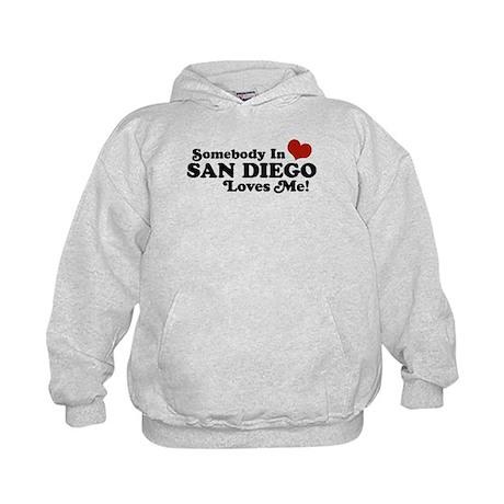 Somebody In San Diego Loves Me Kids Hoodie
