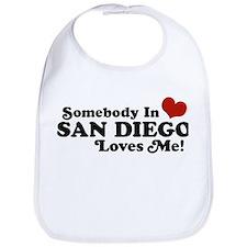 Somebody In San Diego Loves Me Bib