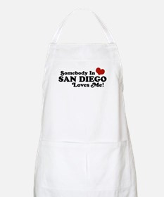 Somebody In San Diego Loves Me BBQ Apron