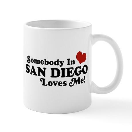 Somebody In San Diego Loves Me Mug