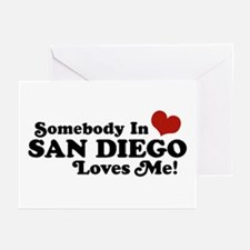 Somebody In San Diego Loves Me Greeting Cards (Pk