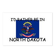 I'd rather be in North Dakota Postcards (Package o
