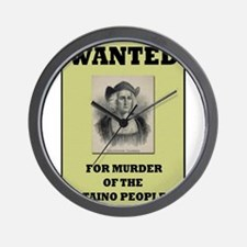 Columbus a Murderer Wall Clock