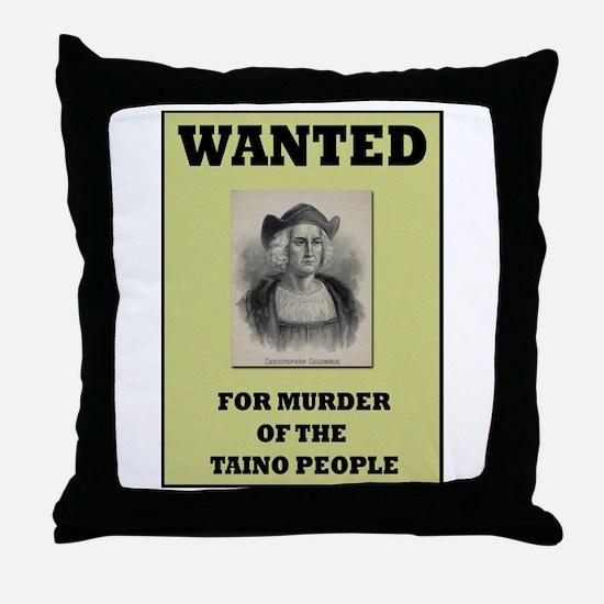 Columbus a Murderer Throw Pillow
