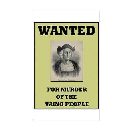 Columbus a Murderer Rectangle Sticker