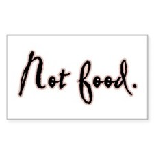 I Am Not Food Twilight Rectangle Decal