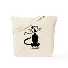Meowza! 1950's Cartoon Cat Tote Bag