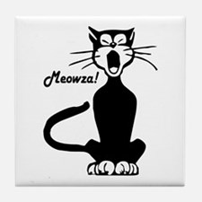 Meowza! 1950's Cartoon Cat Tile Coaster