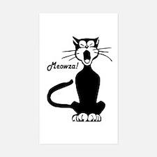 Meowza! 1950's Cartoon Cat Rectangle Decal