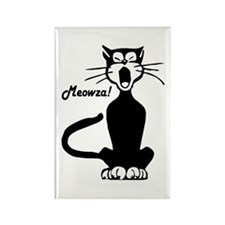 Meowza! 1950's Cartoon Cat Rectangle Magnet