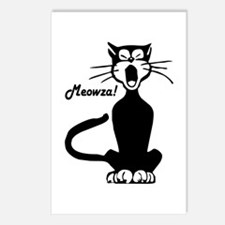 Meowza! 1950's Cartoon Cat Postcards (Package of 8