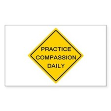 'Practice Compassion' Rectangle Decal