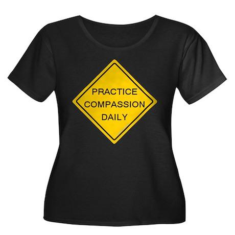 'Practice Compassion' Women's Plus Size Scoop Neck