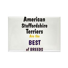American Staffordshire Best Rectangle Magnet