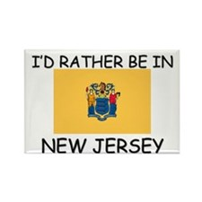 I'd rather be in New Jersey Rectangle Magnet