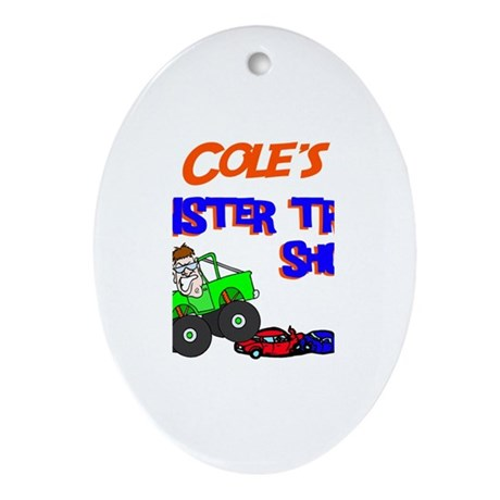 Cole's Monster Truck Oval Ornament